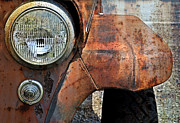 Rusty Car Photos - Headlight by Kathy Jennings