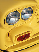 Old Pickup Photos - Headlights on a Classic Truck by Skip Nall