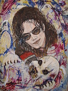 Michael Jackson Portrait Painting Originals - Heal The World by Jocelyne Beatrice Ruchonnet