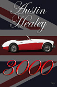 Kirkland Prints - Healey 3000 Montage Print by Curt Johnson