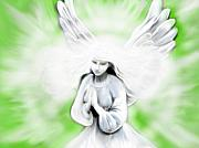 Believe Digital Art - Healing Angel by Roxy Riou