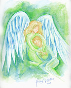 Healing Angel Prints - Healing Angel Print by Tricia Griffith