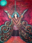 Prayer Pastels Prints - Healing Energy Print by Rena Marzouk