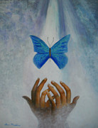 Free Paintings - Healing Hands by Terri Maddin-Miller