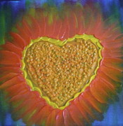 Inspire Paintings - Healing Heart-1 by Monika Dickson