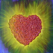 Inspire Paintings - Healing Heart-2 by Monika Dickson