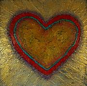 Healing Sculpture Metal Prints - Healing Heart Metal Print by Rochelle Carr