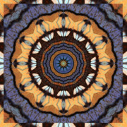 Golden Brown Prints - Healing Mandala 16 Print by Bell And Todd