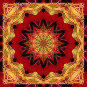 Spiritual. Geometric Prints - Healing Mandala 28 Print by Bell And Todd