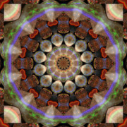 Golden Brown Prints - Healing Mandala 30 Print by Bell And Todd