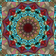 Turquoise Stones Art - Healing Mandala 35 by Bell And Todd