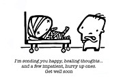 Get Well Posters - Healing Thoughts Poster by Leanne Wilkes