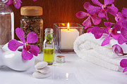 Group-of-objects Prints - Health Spa Concepts  Print by Atiketta Sangasaeng