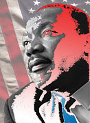 Martin Luther King Jr Digital Art Prints - Hear my Voice Print by Jimi Bush