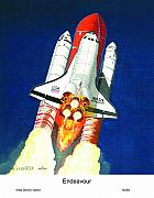 Space Ships Paintings - Hear the rumble feel the heat by Dennis Vebert