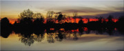 Seaford Photo Prints - Hearns Pond Silhouette Print by Brian Wallace