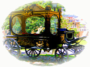 Drawn Photo Prints - Hearse Print by Al Bourassa
