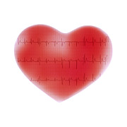 Heart Healthy Prints - Heart And Ecg Print by Cristina Pedrazzini