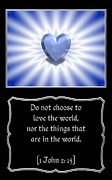 John Art - Heart and Love Design 2 with Bible Quote by Rose Santuci-Sofranko