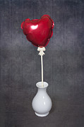 Red Heart Art - Heart Balloon by Joana Kruse