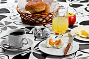 Groceries Photo Posters - Heart Breakfast Poster by Gert Lavsen