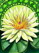 Yoga Paintings - Heart Chakra by Catherine G McElroy