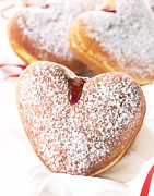 Jelly Donut Prints - Heart Donuts Print by Federico Arce