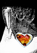 Champagne Glasses Photos - Heart Filled Creme Brule by Anne Ferguson