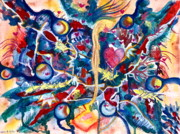 Metaphysical Paintings - Heart Flow by Lori Miller