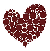 Happy Birthday Prints - Heart Print by Frank Tschakert