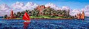 Sailboat Painting Prints - Heart Island Print by Richard De Wolfe