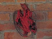 Copper Wire Sculpture Acrylic Prints - Heart Acrylic Print by Kyle Ethan Fischer
