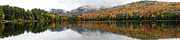 Color Change Posters - Heart Lake Panorama - Adirondack Park - New York Poster by Brendan Reals