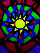 Stain Glass  Work - HEART LIKE a WHEEL by Allen n Lehman