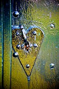 Painted Details Posters - Heart Lock Poster by Catherine Murton