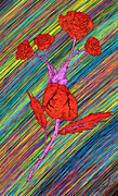 Kenal Louis Digital Art Metal Prints - Heart Made of Roses Metal Print by Kenal Louis