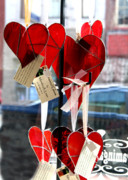 Valentine Glass Art - Heart by Monika A Leon