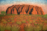 Sacred Pastels Metal Prints - Heart of Australia Metal Print by Lisa Frances Judd