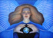 Goddess Paintings - Heart of Creation by Sue Halstenberg