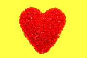 Red Heart Art - Heart of Glass by Olivier Le Queinec