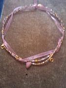 Gold Necklace Pastels Originals - Heart of Gold by Melanie A Leon
