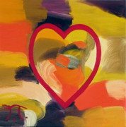 Colored Background Originals - Heart Of Hearts by Troy Thomas