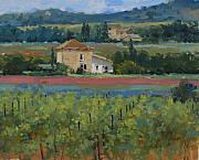 Winery Paintings - Heart of Provence by Judy Crowe