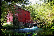 Rustic Mill Posters - Heart of the Ozarks Poster by Lianne Schneider