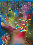 Snorkeling Painting Originals - Heart of the Reef by Lee Pantas