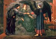 Annunciation Acrylic Prints - Heart of the Rose Acrylic Print by Sir Edward Burne-Jones