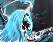 Surfing Art Paintings - Heart of the Sea by Danielle Zirkelbach