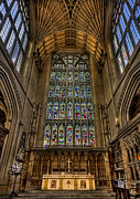 Stained Glass Window Photos - Heart of Worship by Evelina Kremsdorf
