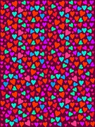 Art And Craft Digital Art - Heart Pattern by Elmira Amirova