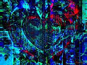 Faniart Mixed Media Posters - Heart Potential Poster by Fania Simon